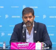 Carlos Bianco en conferencia de prensa