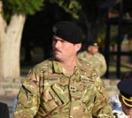 Carlos Euclides Muzio, jefe del Regimiento de Caballería de Tanques 2 de Olavarría. (Infoeme)
