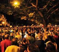 Miles de personas protestaron en la Quinta de Olivos.
