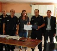 La presentación de las nuevas autoridades fue encabezada por Arnaldo Harispe, el jefe comunal. Foto: Prensa
