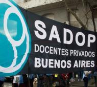 SADOP denunció las alteraciones en los sueldos de los docentes privados cañuelenses. Foto: Twitter SADOP Buenos Aires