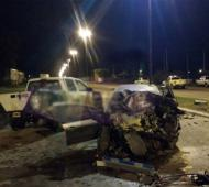 El trágico choque ocurrió en La Plata. Foto: Red92