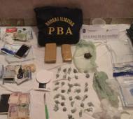 Elementos incautados por la Policía. Foto: Prensa
