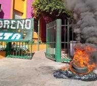 Moreno: Paro de municipales en reclamo de un 15% de aumento
