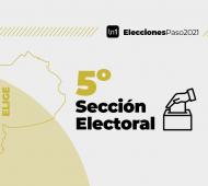 La quinta sección electoral es la que concentra la mayor cantidad de distritos.