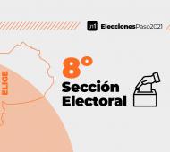 La octava sección electoral está sólo compuesta por la capital provincial.