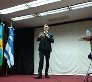 Peña habló en una reunión de gabinete ampliado en Tres de Febrero. Foto: @dievalen