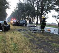 Choque fatal en Ruta 8 en Pergamino: Tres muertos