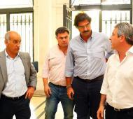 Salvador junto a López Medrano, Sarquís y el intendente Martínez