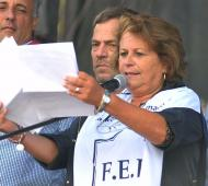 Mirta Petrocini, dirigente de FEB. Foto: AGLP