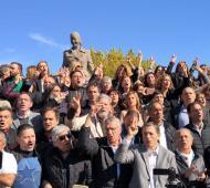 El peronismo congregado en Los Toldos para recordar a Evita en su centenario