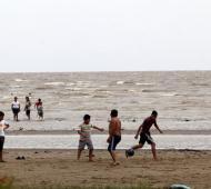 Berisso: Así se veían las playas locales en temporadas anteriores. (Foto: Municipio)