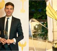"""El lujanense Héctor Griffini fue destacado como personalidad influyente en los premios """"Democracia Global"""""""