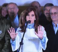 La ex presidenta agrandó su colchón de votos en los distritos del Conurbano. Foto: Prensa