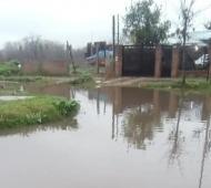 En Virrey del Pino, las vecinos quedaron atrapados.