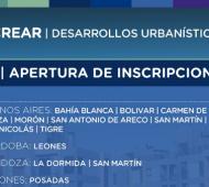 PROCREAR: Inscripción para desarrollos urbanísticos en distritos de la Provincia
