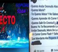 Los mensajes que aparecieron en la fiesta de Moreno, donde un chico fue asesinado.