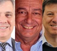 Britos, Sánchez y Bevilacqua, felices por la elección.
