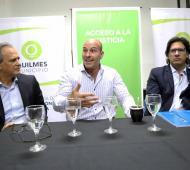 Molina y Germán Garavano en el Consultorio Jurídico Gratuito en Solano.