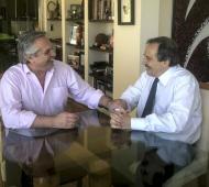 Ricardo Alfonsín con Fernández