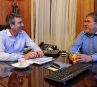 El ex ministro y el diputado 'Chino' Navarro cuando estaba en el gobierno.