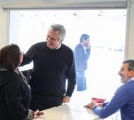 el exministro de transporte se mostró con Alberto Fernández