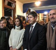 Abal Medina, Gustavo Di Marzio y Paula Lambertini en La Plata