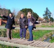 Los precandidatos visitaron las obras de entubamiento del Arroyo Las Piedras. Foto: Diario Conurbano