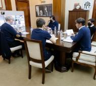 Kicillof con intendentes de la Costa Atlántica