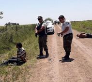 Dos detenidos por Rojas con droga lanzada desde una avioneta.