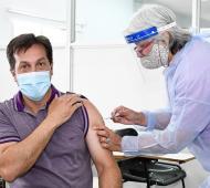 Arturo Rojas ya se vacunó
