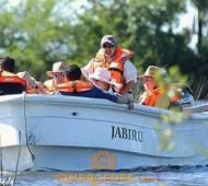 Los reyes recorrieron los Esteros del Iberá. Foto: Roxana Fionda (Tu Mercedes)