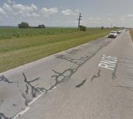 Un hombre murió y cinco personas resultaron heridas tras un triple choque en la ruta 36. Foto: Maps