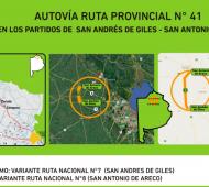Provincia convertirá un tramo de la Ruta 41 en Autovía