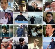 La tripulación de la nave. Foto: Clarín