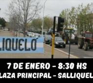 Salliqueló y Pergamino organizaron protestas contra suba del Inmobiliario y las retenciones