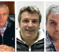 Hernández (Juntos por el Cambio), Sucurro (Frente de Todos), Nosetti (Unión Vecinal)
