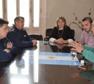 Salomón se reunió con la cúpula policial en Saladillo.