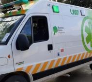 Finalmente arribó la ambulancia del SAME