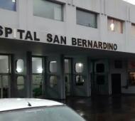 El paciente es atendido en el Hospital San Bernardino.