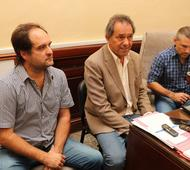 Maggioti, Scioli y Di Palma Foto: Navarro Noticias