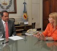 El Gobernador y la Ministra, anfitriones del encuentro.