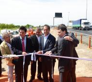 Scioli inauguró obras en el tramo Hudson - Berazategui.