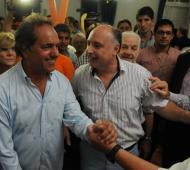 Scioli recibió apoyo en la provincia de Córdoba.