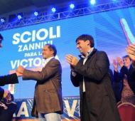 Scioli estuvo junto a Zannini, Bossio y Fernández. Foto: Telam