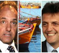 Scioli y Massa se cruzaron por los puertos.