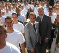 Scioli estuvo acompañado por el Intendente West.