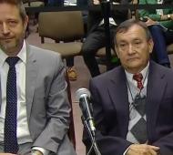 El abogado Diego Szpigiel y Lino Villar Cataldo.