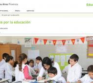 El formulario se encuentra en la página de Educación.