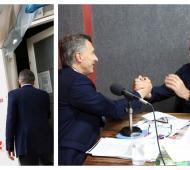 Macri sorprendió al llegar a una radio de Trenque Lauquen.